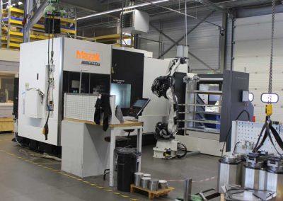 BMO Automation Platinum 50 Frontloader mit Multi-Funktions-Maschine Mazak INTEGREX j-400